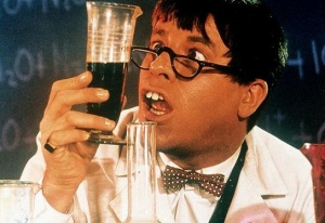 "Jerry Lewis as ""the Nutty Professor"""