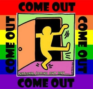 "Keith Haring image: ""Come out"""