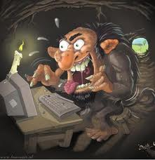 Troll at keyboard