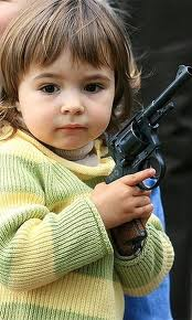 toddler with gun