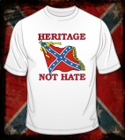 "t-shirt: ""Heritage, not Hate"" with Confederate flag"