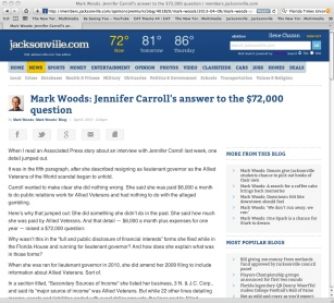 Mark Woods' scurrilous accusations published in a April 6th 2013 Times-Union article.