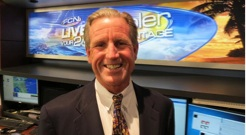 Weather reporter Tim Deegan